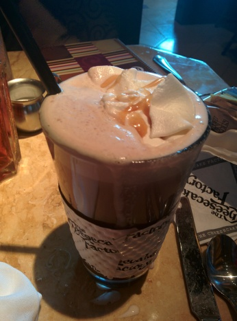 Hot chocolate from the Cheesecake Factory